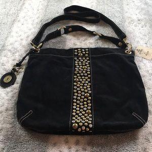 Fossil black tote bag black